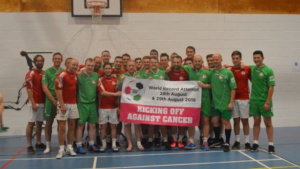 36 Hour Indoor Football World Record Attempt