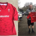 silent auction 4 - Wales rugby shirt signed by 36 of the squad picked for the Autumn International game v South Africa.
