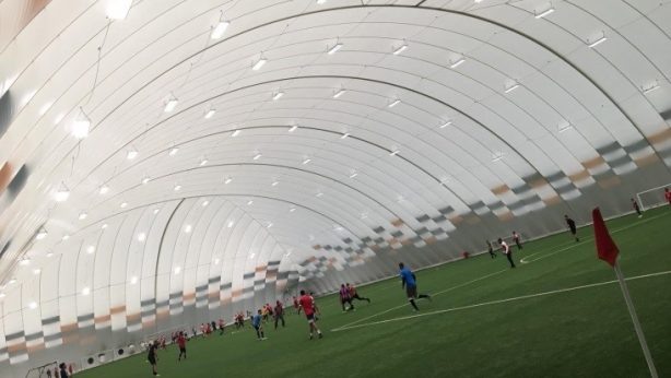 Inside the Air Dome in cardiff