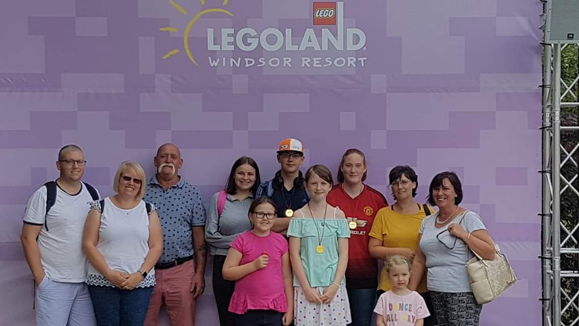The family at Legoland