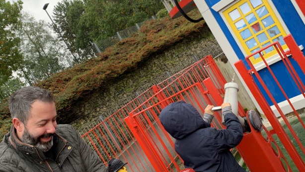 Fraser and Buddy Macintosh enjoying Legoland